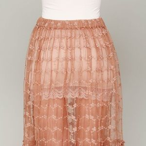 Free People Skirts - Free People Lace Connections skirt